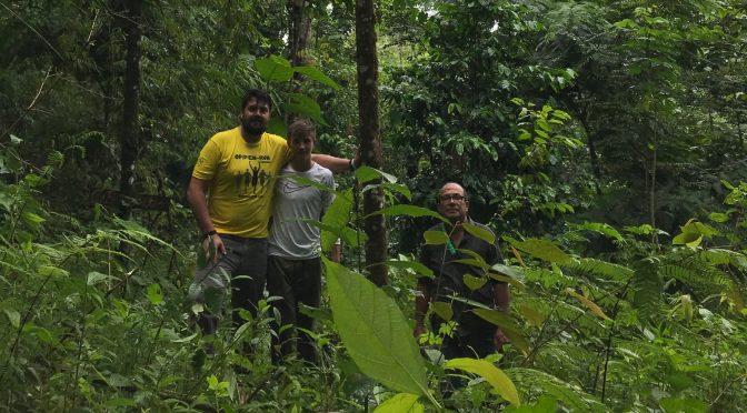 Baumpate Ronny besucht nach 5 Jahren seinen Baum im Regenwald